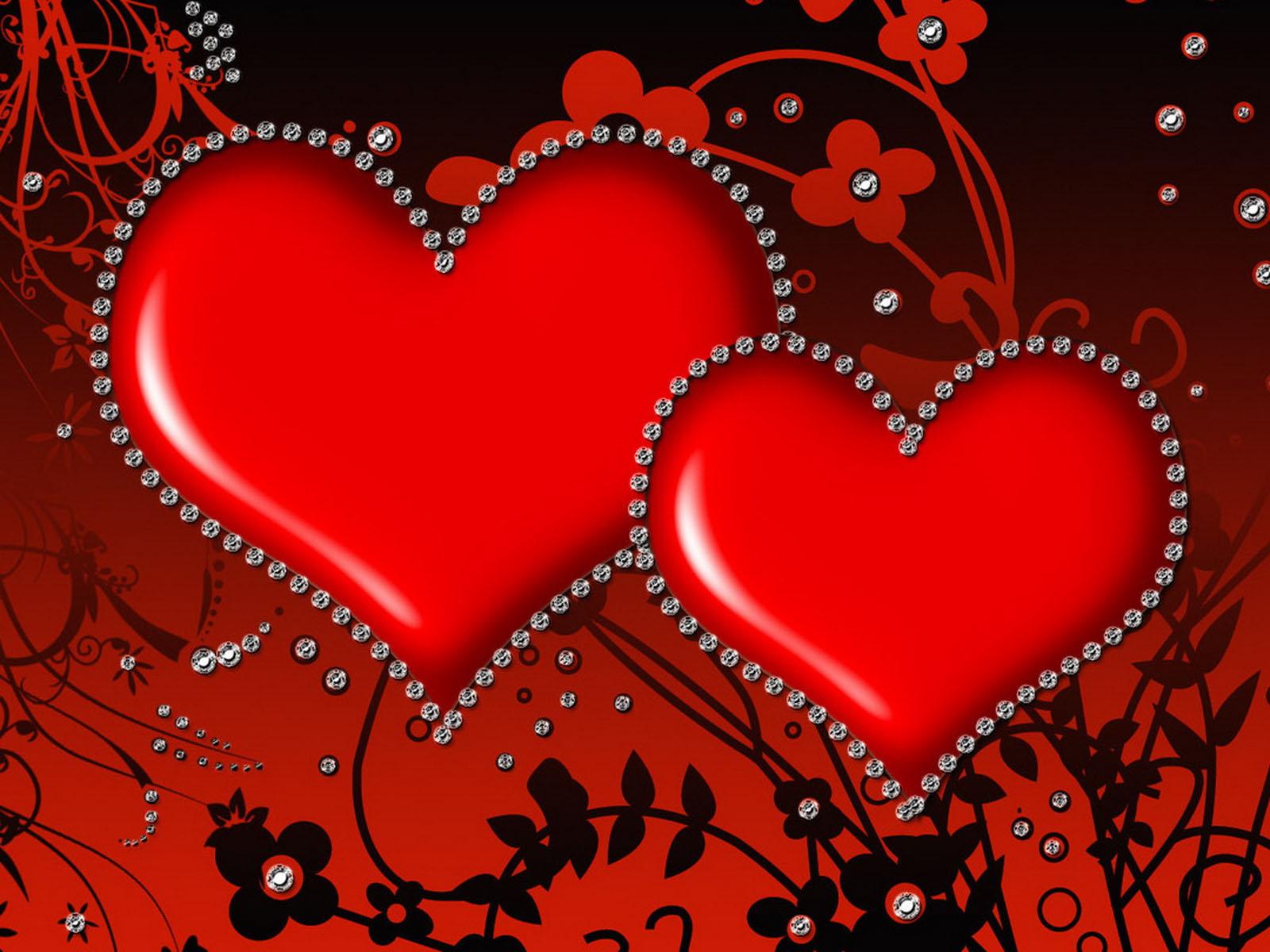 Картинки для поздравления с сердечками 528